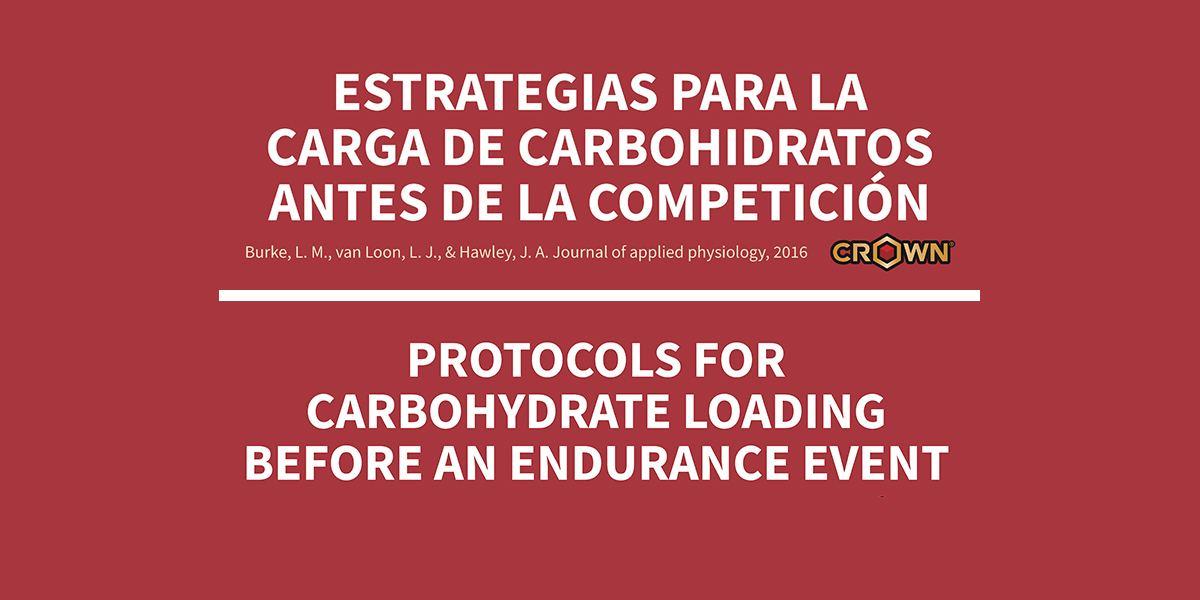 ESTRATEGIAS PARA LA CARGA DE CARBOHIDRATOS ANTES DE LA COMPETICION