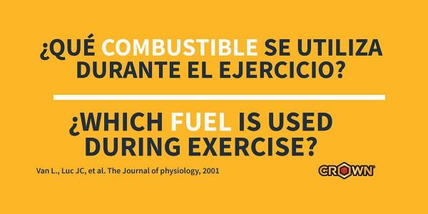 ¿Qué combustible se utiliza durante el ejercicio?